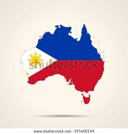 Map australia philippines flag colors stock vector hd royalty free map of australia in philippines flag colors gumiabroncs Image collections