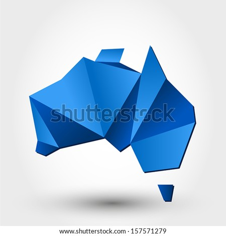 map of australia. map concept - stock vector