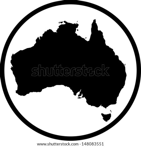 Map of Australia vector  - stock vector