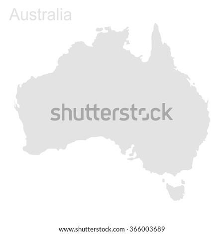 Map of Australia. Vector background - stock vector