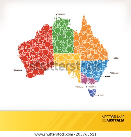 Map of Australia vector illustration - stock vector