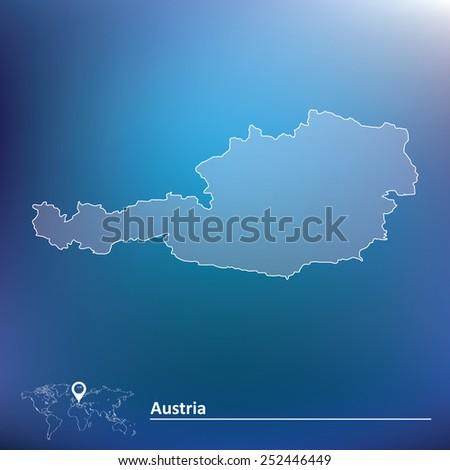 Map of Austria - vector illustration - stock vector