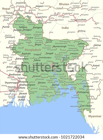 Map bangladesh shows country borders urban stock photo photo map bangladesh shows country borders urban stock photo photo vector illustration 1021722034 shutterstock gumiabroncs Image collections