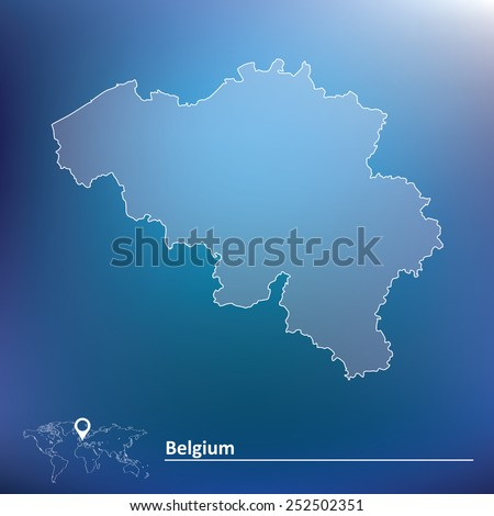 Map of Belgium - vector illustration - stock vector