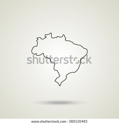 Map of Brazil. Map of Brazil icon, map of Brazil icon eps10, map of Brazil icon vector, map of Brazil icon jpg, map of Brazil flat icon, map of Brazil icon app, map of Brazil icon web. - stock vector