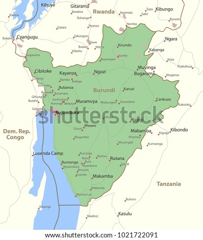 Arab world states political map higlighted stock vector 621968720 map of burundi shows country borders urban areas place names and roads gumiabroncs Image collections
