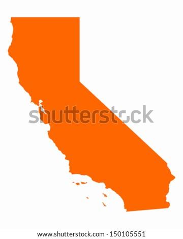 Map of California - stock vector