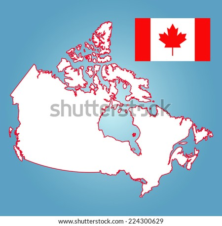 map of canada  - stock vector