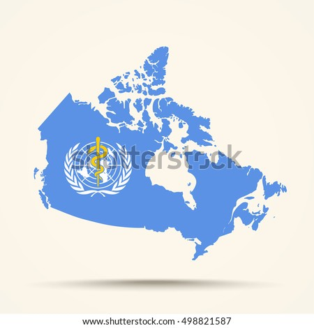 Map canada world health organization who stock vector 498821587 map of canada in world health organization who flag colors gumiabroncs Images