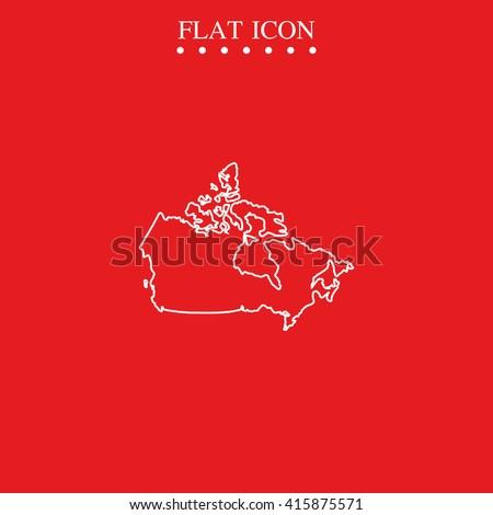 Map of Canada. Map of Canada, Map of Canada icon eps10, Map of Canada icon vector, Map of Canada icon jpg, Map of Canada flat icon, Map of Canada icon app, Map of Canada icon web. - stock vector