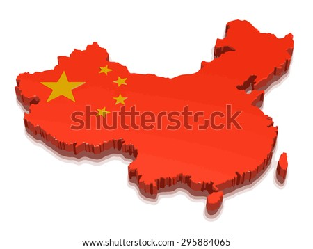Map of China - stock vector