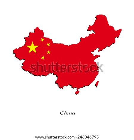 Map of China for your design, concept Illustration. - stock vector