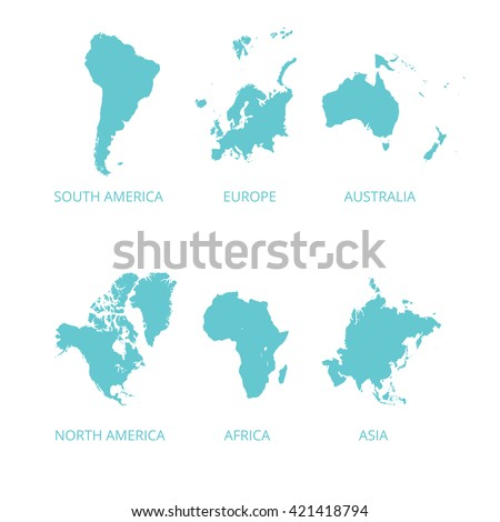 Map continental south america north america vectores en stock map of continental south america north america asia australia europe maps gumiabroncs Image collections