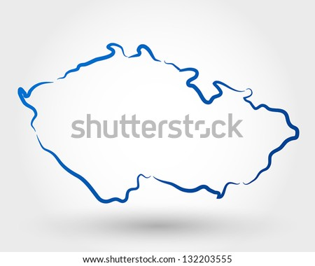 map of czech republic. map concept