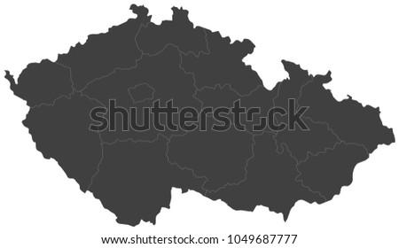 Map czech republic split into regions stock photo photo vector map of czech republic split into regions publicscrutiny Gallery