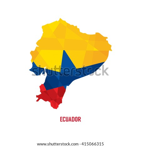 Map Of Ecuador Vector Illustration