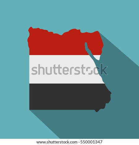 Map Egypt Egyptian Flag Colors Icon Stock Vector - Map of egypt vector