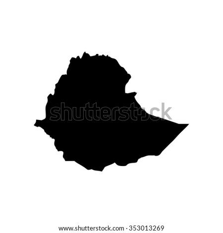 Map of Ethiopia - stock vector