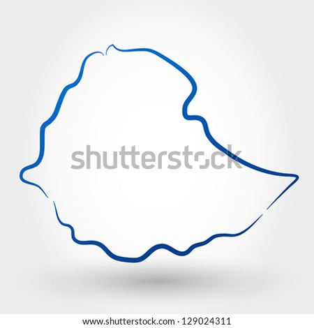 map of ethiopia. map concept - stock vector