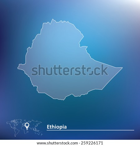 Map of Ethiopia - vector illustration - stock vector