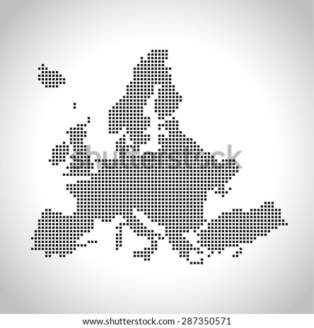 map of Europe - stock vector