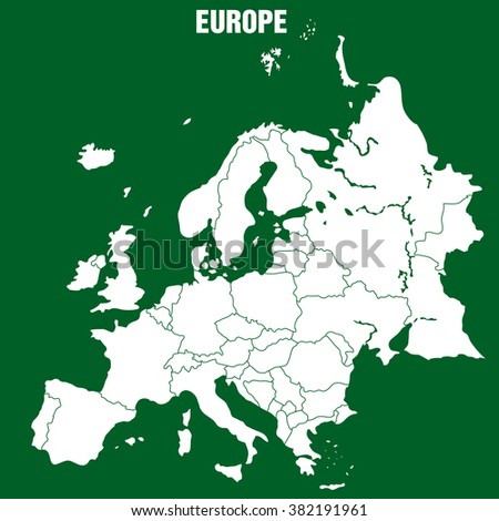 Map of Europe - Illustration - stock vector