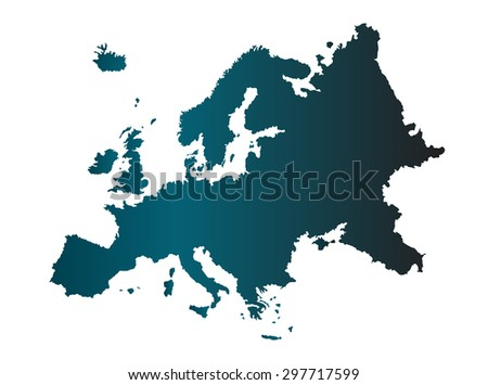 Map of Europe, vector