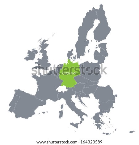 map of European Union with the indication of Germany