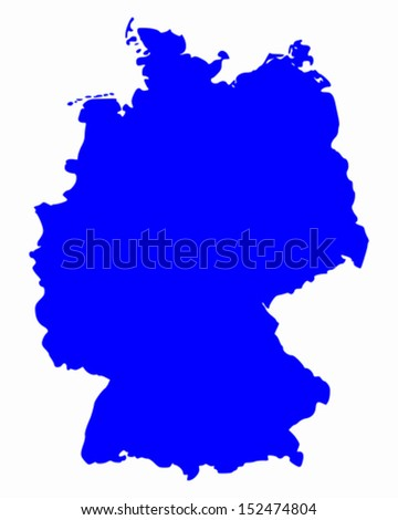 Map Germany Stock Vector Shutterstock - Germany map vector