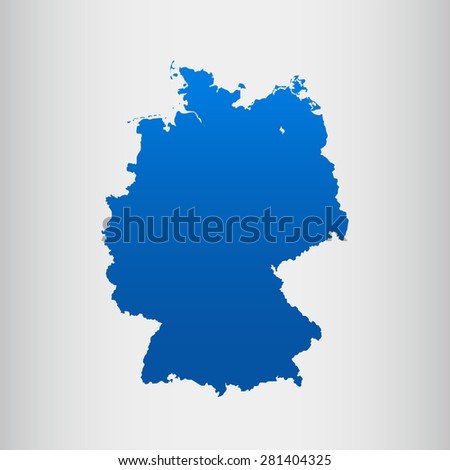 map of Germany - stock vector