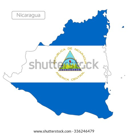 map of Grenada with the flag. North America  - stock vector