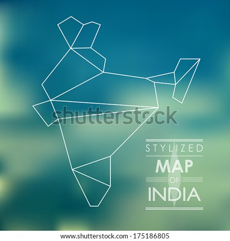 map of india. map concept - stock vector