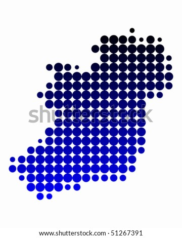 Map of Ireland - stock vector
