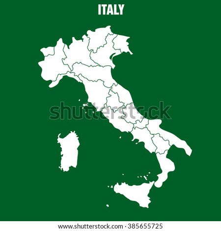 Map of Italy - Illustration - stock vector