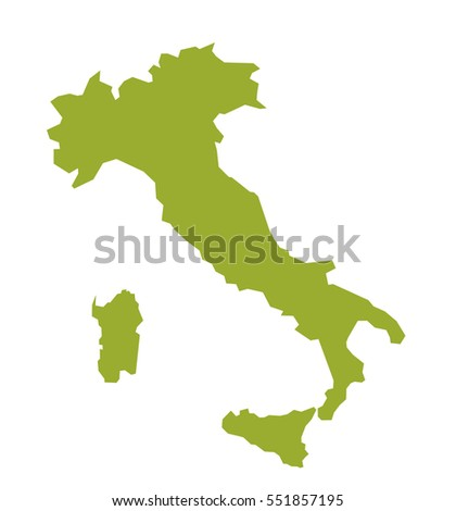 Map of Italy.  Vector illustration