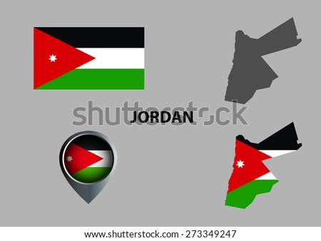 Map Jordan Symbol Stock Vector 273349247 Shutterstock