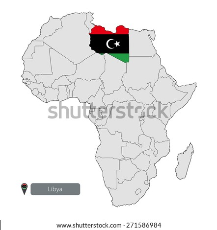 Map Libya Official Flag Location On Stock Photo Photo Vector