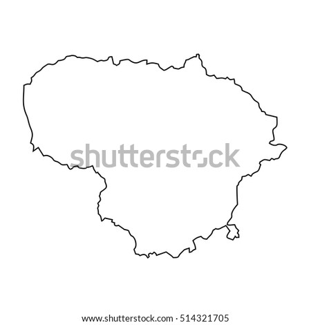 Map Lithuania Stock Vector Shutterstock - Lithuania map vector