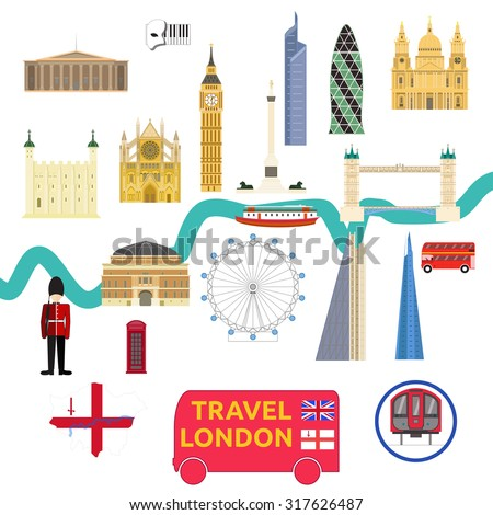 map of london attraction landmarkbridge big ben museum bus opera