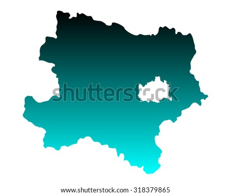Map of Lower Austria
