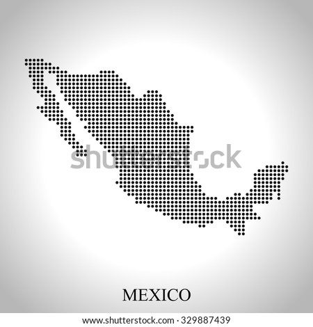 map of Mexico - stock vector