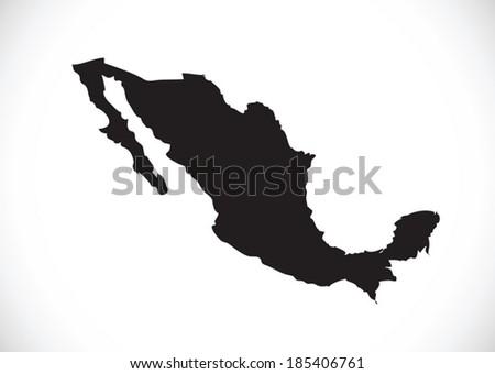 map of Mexico Decorative idea design  - stock vector