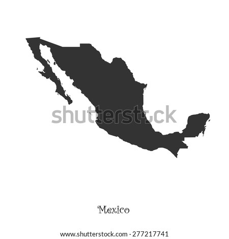 Map of Mexico  for your design, concept Illustration. - stock vector