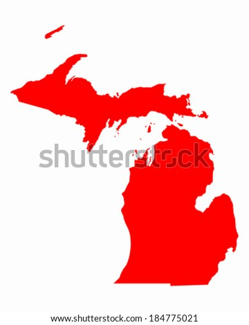 Map of Michigan - stock vector