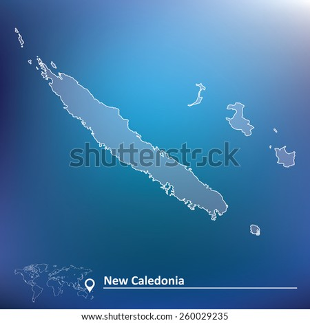 Map of New Caledonia - vector illustration - stock vector