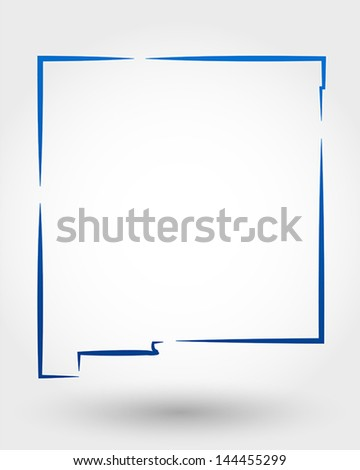 map of new mexico. map concept - stock vector