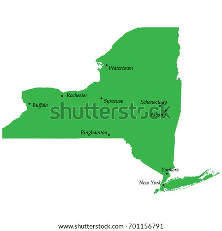 New York State Stock Images RoyaltyFree Images Vectors - Map of new york state with cities