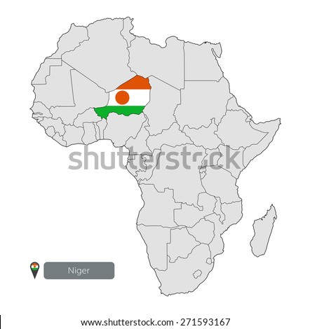 Map Niger Official Flag Location On Stock Vector 271593167