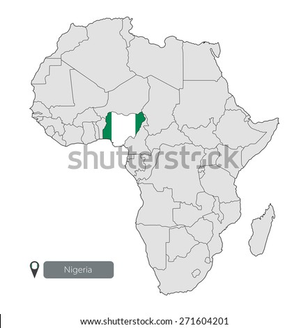 Map Nigeria Official Flag Location On Stock Vector HD Royalty Free
