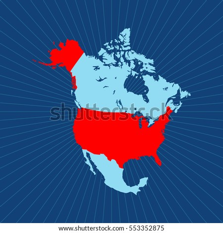 Us Canada Map Stock Images RoyaltyFree Images Vectors - Free vector map of us and canada